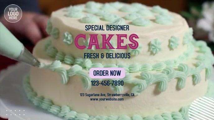 Designer Cakes Digitale Vertoning (16:9) template