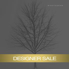 Designer Sale Instagram Gold Square Template