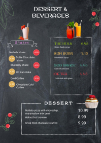 Dessert and beverages menu template