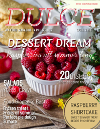 Dessert Food Mag Cover Template Pamflet (VSA Brief)