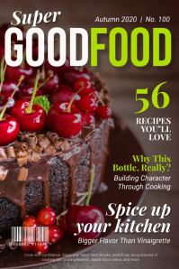 Dessert food magazine cover Poster template