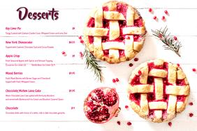 Dessert Menu card 25