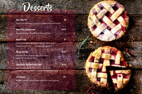 Dessert Menu card 53