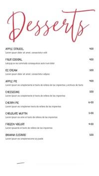 Dessert Menu Social Media Template 数字显示屏 (9:16)
