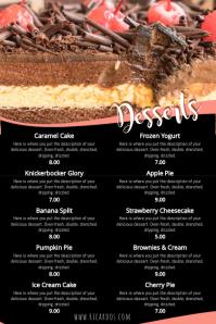 Dessert Menu Template