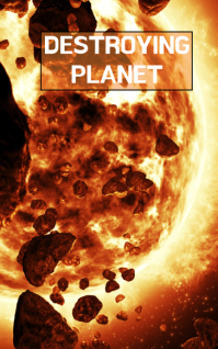 DESTROYING PLANET BOOK TEMPLATE ปก Kindle