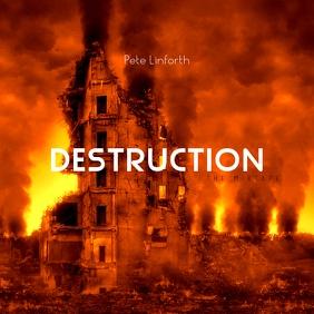 Destruction Disaster Mixtape Cover Art Music Sampul Album template