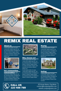 Detailed real estate brochure (3 rows with images) - Corporate version