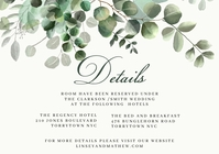 Details Wedding Invitation Template A5