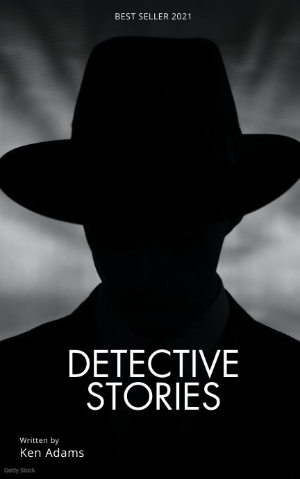 Detective Investigation Book Cover Template Capa do Kindle
