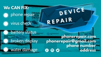 Device Repair business card template