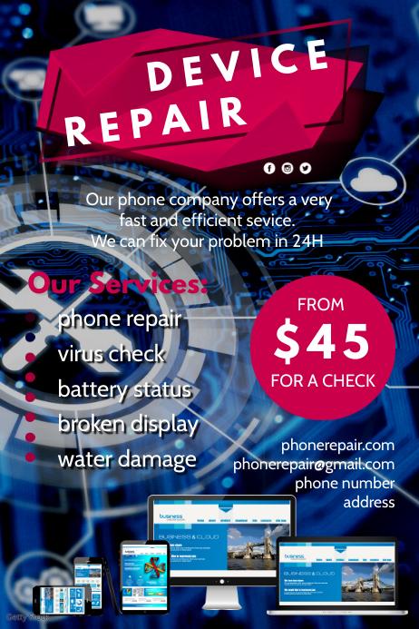 Device Repair Flyer