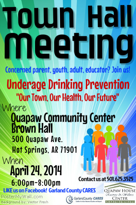 GCCARES Town Hall Meeting Flyer | PosterMyWall