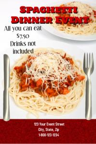 Spaghetti Dinner Event Template