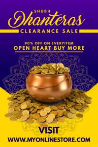 Dhanteras Sale Offer Poster Template Plakat