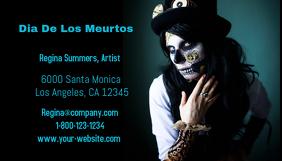 Dia De Los Muertos Business Card template