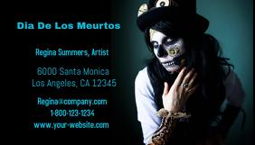 Dia De Los Muertos Business Card Visitekaartje template