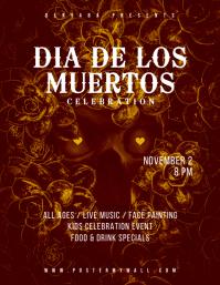 Dia de Los Muertos Celebration Flyer