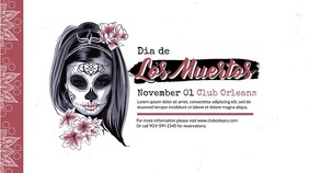 Dia de los Muertos Club Video Advert Template Digital na Display (16:9)
