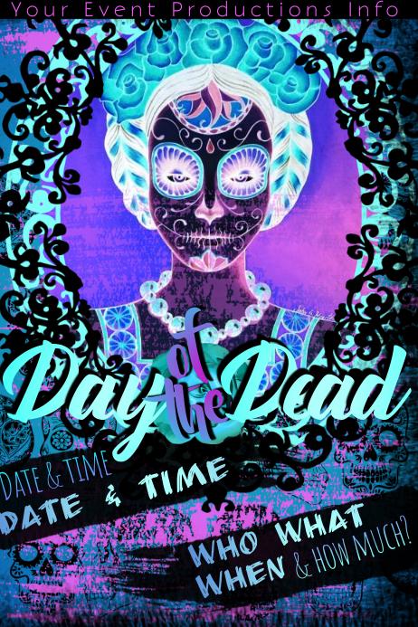 Dia De Los Muertos Day Of Dead Event Party Halloween Costume