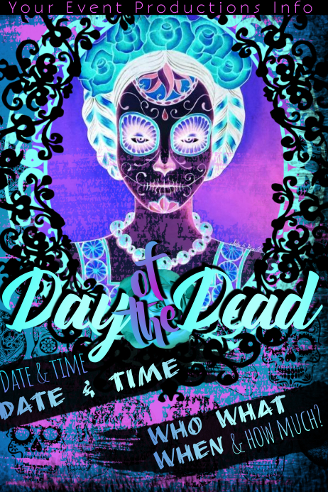 Dia De Los Muertos Day of Dead Event Party Halloween Costume