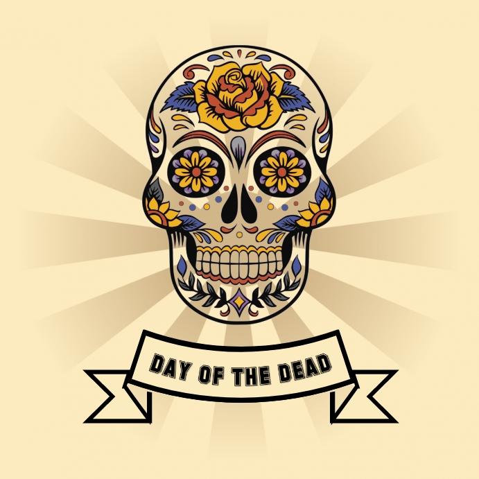 Dia de los Muertos Pos Instagram template