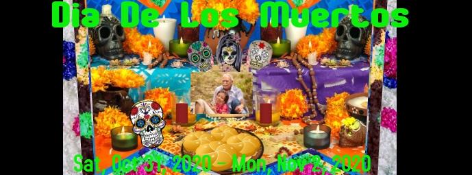 Dia De Los Muertos Facebook-omslagfoto template