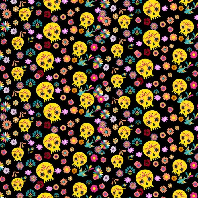 Dia de los Muertos Instagram-bericht template