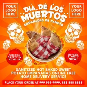 Dia de los Muertos Empanadas Sale Template Message Instagram