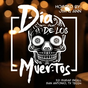 Dia de los Muertos Evening Event Video Ad Template Instagram Plasing
