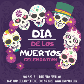 Dia de los Muertos Event Instagram Post Template