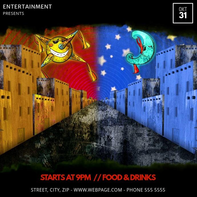 Dia de los Muertos event party ad template