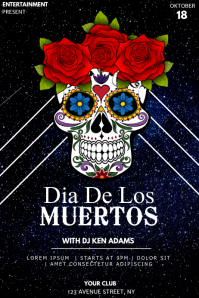 Dia de los muertos event party flyer template