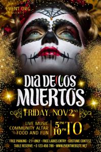 Dia De Los Muertos Event Poster Template