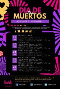 dia de los muertos Events Schedule Flyer