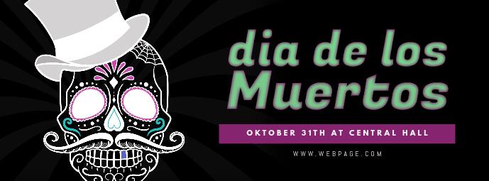 Dia de los Muertos Facebook Cover Template Facebook-omslagfoto