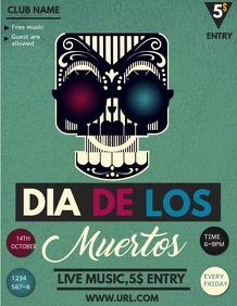 Dia de los muertos flyer,event flyer,
