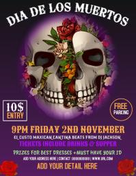 dia de los muertos flyer , party flyer