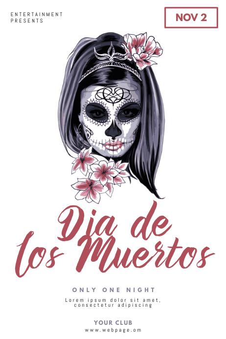 dia de los muertos Flyer Design Template