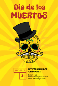 Dia de los Muertos Flyer Template kids