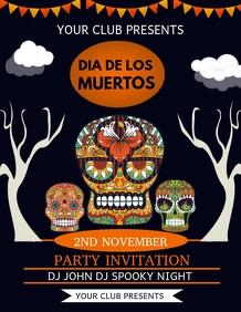 Dia de los muertos flyers,event flyers