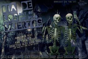 Dia de los Muertos Halloween Day Skull Dead Skeleton Selfie