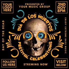 Dia de los Muertos Music Show Template Instagram Plasing