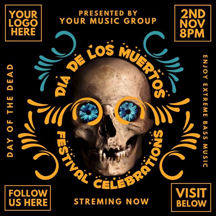 Dia de los Muertos Music Show Template Instagram-bericht