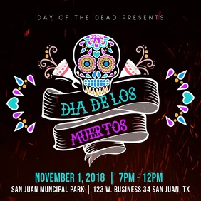 Dia de los Muertos Open Air Party Video Ad Template