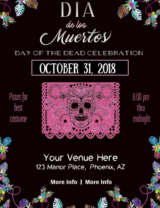 Dia de los Muertos Poster Template