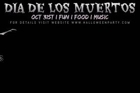 Dia De Los Muertos Template Ishidi elingu 4' × 6'