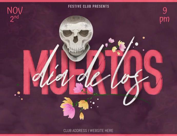Dia De Los Muertos Template Folder (US Letter)