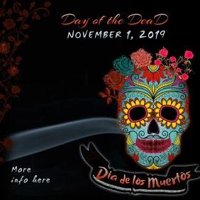 Dia de los Muertos Video Kvadrat (1:1) template