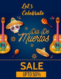 Dia De Muertos poster Ulotka (US Letter) template